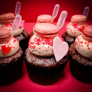 valentines Red Velvet Gin and Tonic Cupcakes